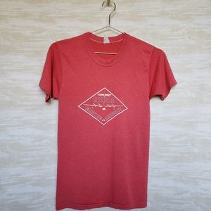 Vintage heather red graphic tee